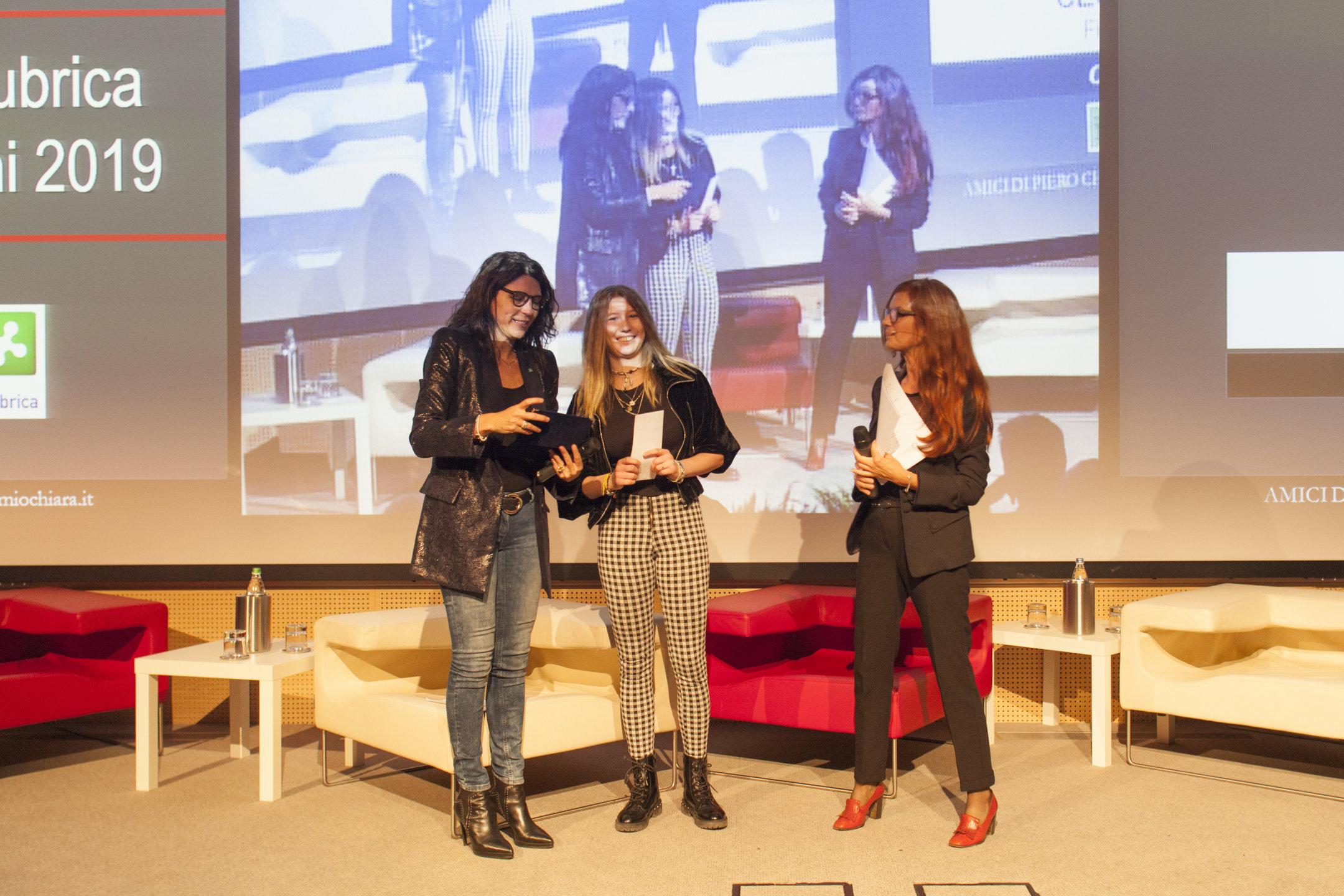 Cecilia Spacio Premio Regio Insubrica al Chiara Giovani 2019
